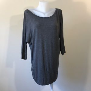 Grey Tunic Shirt Made by Johnny In XL Made in USA